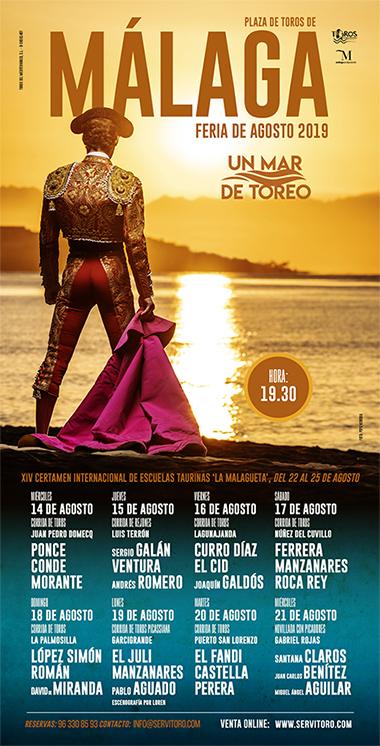 Cartel Toros en Málaga 2019